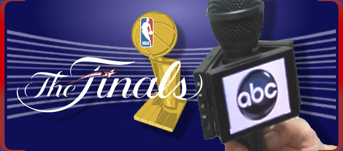 ABC and their new OLED mic flags at the NBA Finals